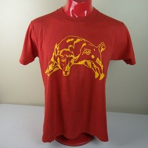 Vintage 80s Western Bull Riding Rodeo Tee Shirt